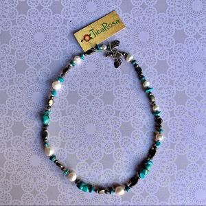 TicaRosa turquoise beaded necklace